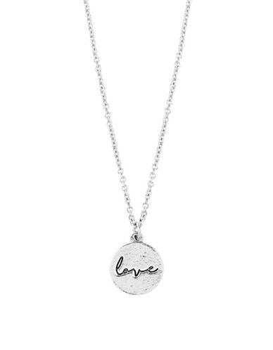Foxy Originals Sweet Notes Pewter-Plated Silver Love Necklace-SILVER-One Size