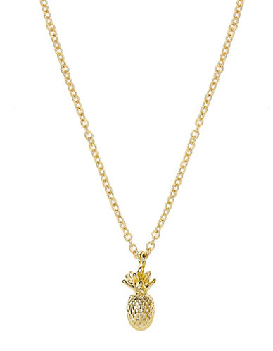 Foxy Originals 14K Goldplated Pineapple Charm Necklace and Envelope Set-GOLD-One Size
