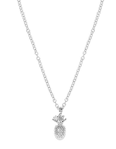 Foxy Originals Silverplated Pineapple Charm Necklace and Envelope Set-SILVER-One Size