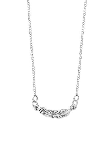 Foxy Originals Sweet Notes Love Silverplated Feather Pendant Necklace-SILVER-One Size