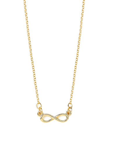 Foxy Originals 14K Goldplated Forever and Beyond Infinity Necklace-GOLD-One Size