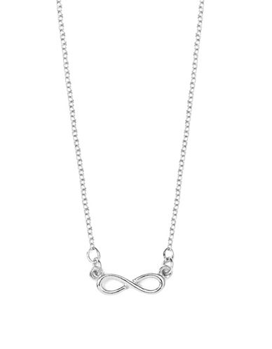Foxy Originals Pewter-Plated Silver Forever and Beyond Infinity Necklace-SILVER-One Size