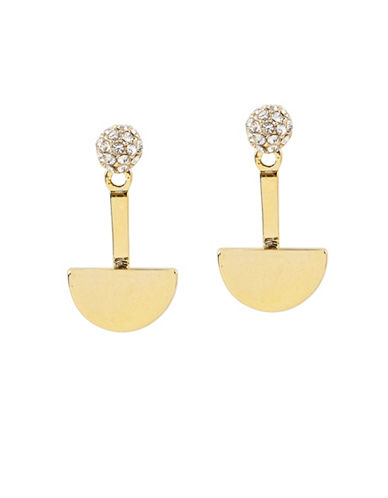 Foxy Originals Moon Swarovski Crystal 14K Goldplated Ear Jackets-GOLD-One Size