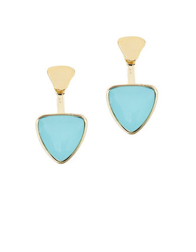Foxy Originals 14K Goldplated Aqua Orion Ear Jackets-GOLD-One Size