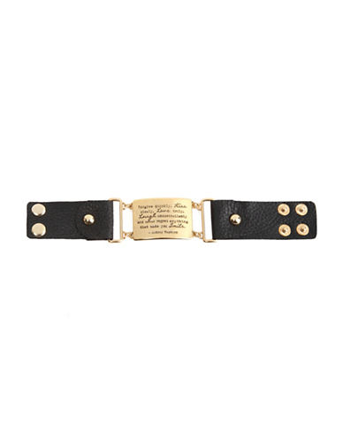 Foxy Originals Kiss Leather Bracelet-GOLD-One Size
