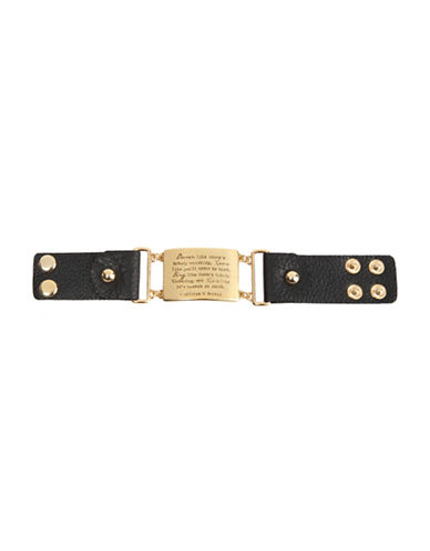 Foxy Originals Live Leather Bracelet-GOLD-One Size