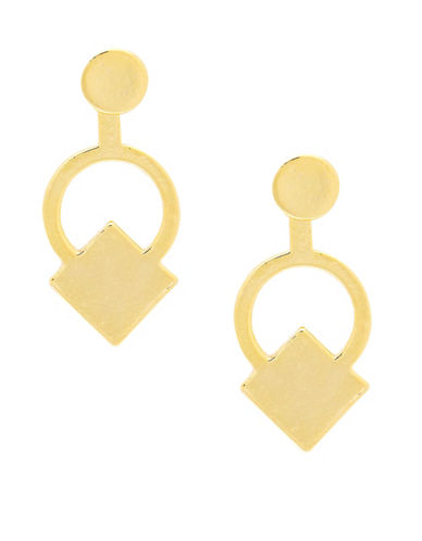 Foxy Originals Geo Jackets Sybil Pewter Drop Earrings-GOLD-One Size