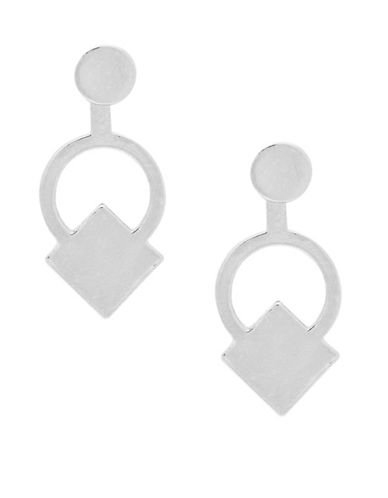 Foxy Originals Geo Jackets Sybil Pewter Drop Earrings-SILVER-One Size