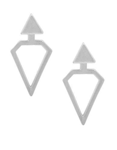 Foxy Originals Geo Jackets Titan Earrings-SILVER-One Size