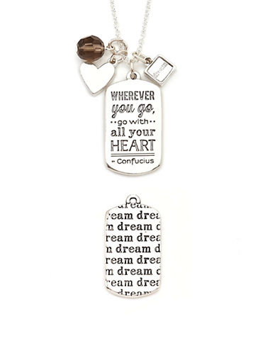 Foxy Originals Dream Mantra Necklace-SILVER-One Size
