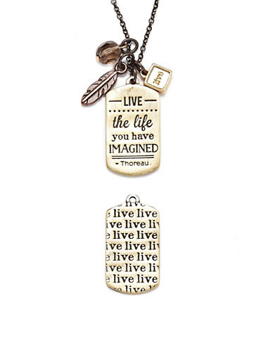 Foxy Originals Live Mantra Necklace-MIXED-One Size