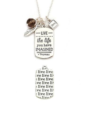 Foxy Originals Live Mantra Necklace-SILVER-One Size