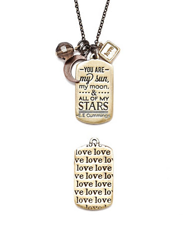 Foxy Originals Love Mantra Necklace-MIXED-One Size