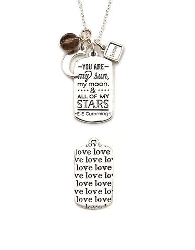 Foxy Originals Love Mantra Necklace-SILVER-One Size