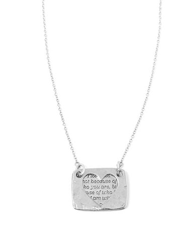 Foxy Originals Heart Love Note Necklace-SILVER-One Size
