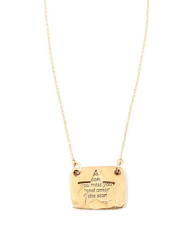 Foxy Originals Star Love Note Necklace-GOLD-One Size