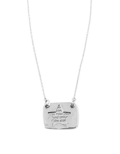 Foxy Originals Star Love Note Necklace-SILVER-One Size