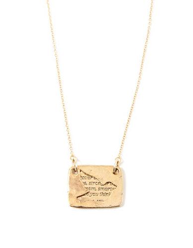 Foxy Originals Bird Love Note Necklace-GOLD-One Size