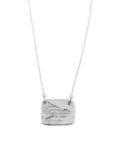 Foxy Originals Bird Love Note Necklace-SILVER-One Size