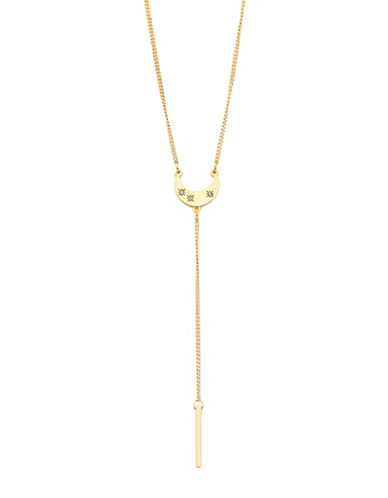 Foxy Originals Celestial Crescent Lariat Necklace-GOLD-One Size