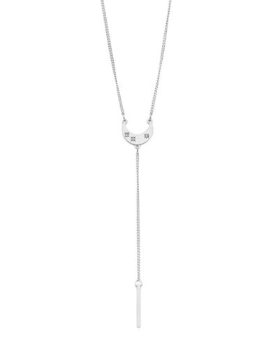 Foxy Originals Celestial Crescent Lariat Necklace-SILVER-One Size