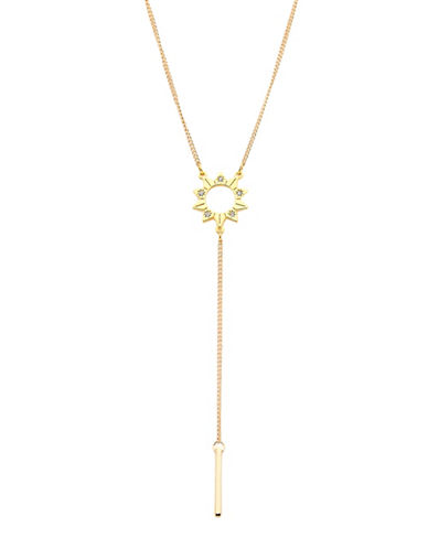 Foxy Originals Celestial Sun Lariat Necklace-GOLD-One Size