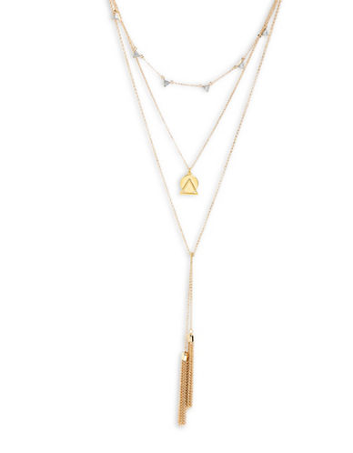 Foxy Originals Cirque Three-Layer Convertible Necklace-GOLD-One Size