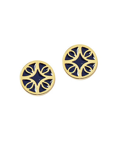 Foxy Originals Florence Mosiac Earrings-NAVY-One Size