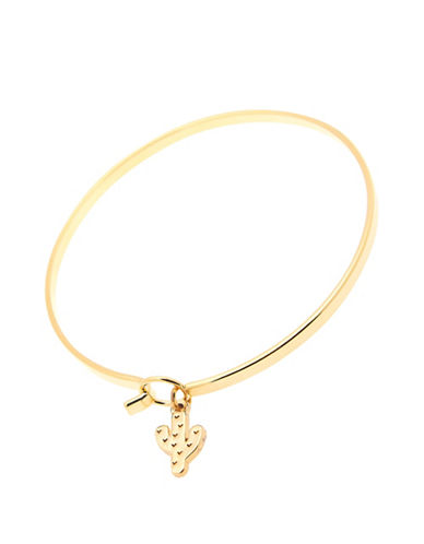 Foxy Originals POP Paradise Cactus Charm Bangle-GOLD-One Size