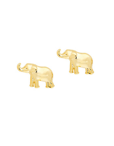 Foxy Originals POP Paradise Goldplated Elephant Stud Earrings-GOLD-One Size