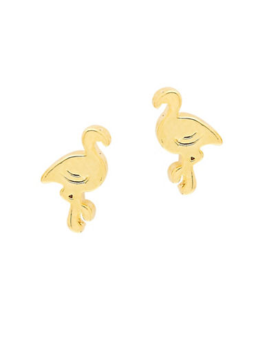 Foxy Originals POP Paradise Flamingo Earrings-GOLD-One Size