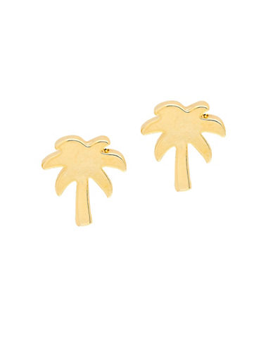 Foxy Originals POP Paradise Palm Tree Stud Earrings-GOLD-One Size