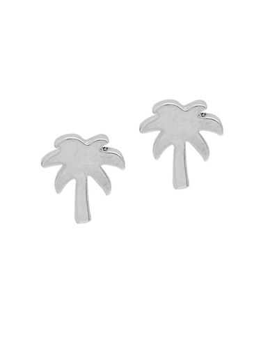 Foxy Originals POP Paradise Palm Tree Stud Earrings-SILVER-One Size
