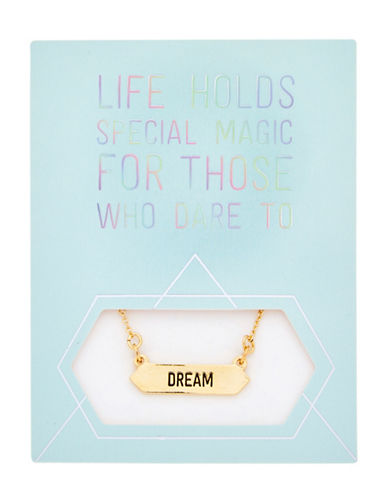 Foxy Originals Statement Dream Goldplated Necklace-GOLD-One Size