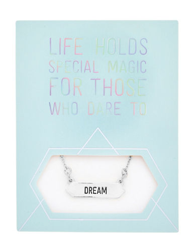 Foxy Originals Statement Dream Silverplated Necklace-SILVER-One Size