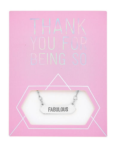 Foxy Originals Statement Fabulous Silverplated Necklace-SILVER-One Size