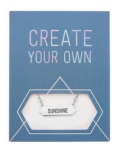 Foxy Originals Statement Sunshine Silverplated Necklace-SILVER-One Size
