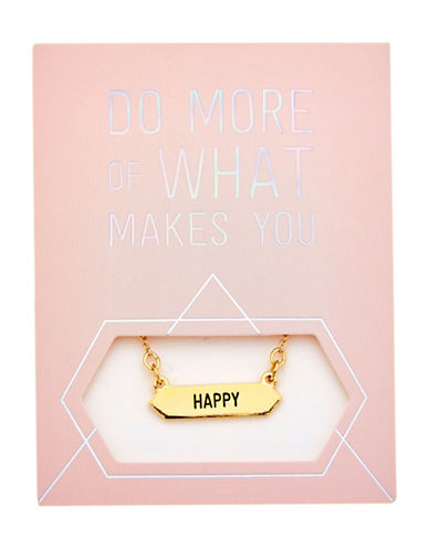 Foxy Originals Statement Happy Goldplated Necklace-GOLD-One Size