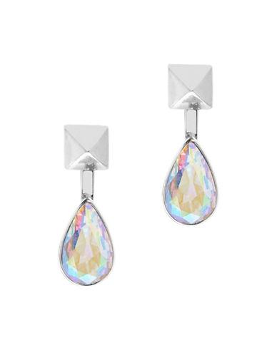 Foxy Originals Teardrop Gemstone Stud Earrings-SILVER-One Size