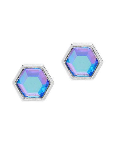 Foxy Originals Hexagon Gemstone Earrings-SILVER-One Size