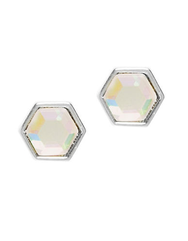 Foxy Originals Hexagon Gemstone Earrings-SILVER-One Size