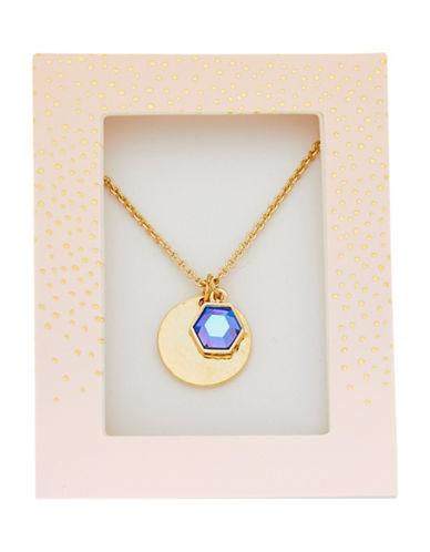 Foxy Originals Hexagon Gemstone Necklace-GOLD-One Size