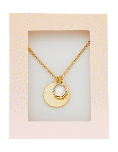Foxy Originals Hexagon Gemstone Necklace-GOLD-One Size