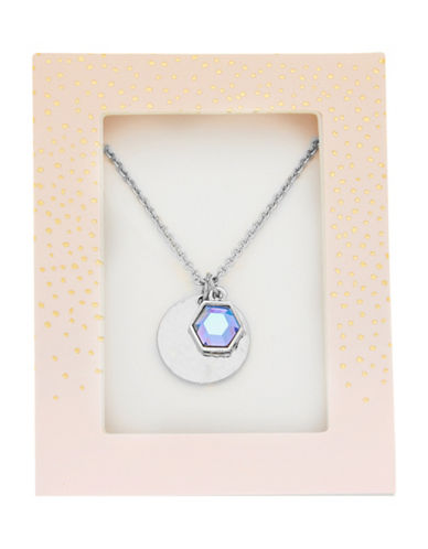 Foxy Originals Hexagon Gemstone Necklace-SILVER-One Size