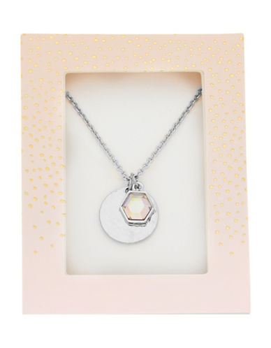Foxy Originals Hexagon Gemstone Necklace-SILVER-One Size