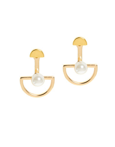 Foxy Originals Arc Faux-Pearl Ear Jacket-GOLD-One Size