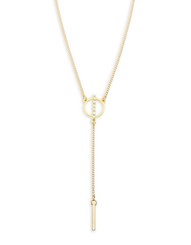 Foxy Originals Dawn Pave Y Necklace-GOLD-One Size