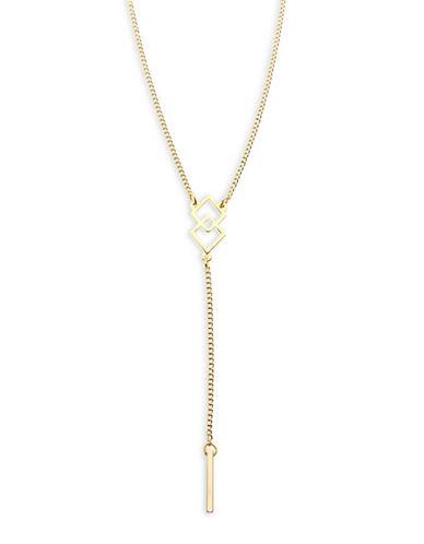 Foxy Originals Diamond Pendent Y Necklace-GOLD-One Size