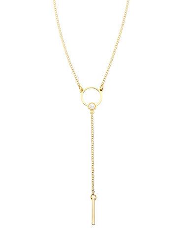Foxy Originals Eclipse Y Necklace-GOLD-One Size