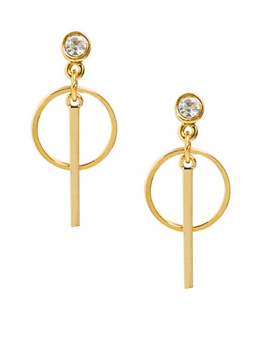 Foxy Originals Horizon Pave Drop Earrings-GOLD-One Size